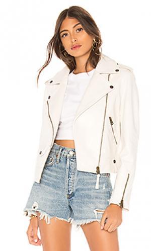 Кожаная куртка baya Mackage. Цвет: белый