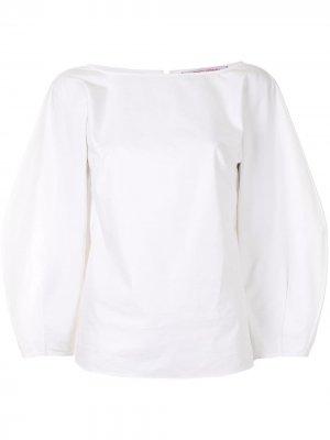 Блузка с пышными рукавами Carolina Herrera. Цвет: белый