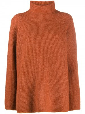 Long-sleeve roll neck jumper By Malene Birger. Цвет: коричневый