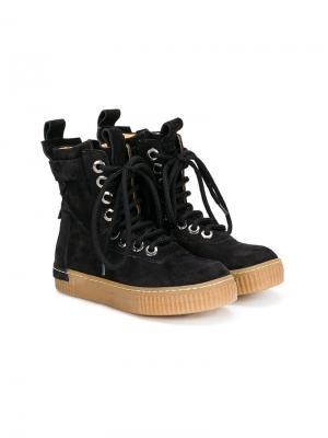 Ботинки на шнуровке Cinzia Araia Kids. Цвет: черный