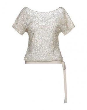 Блузка JENNY PACKHAM. Цвет: бежевый