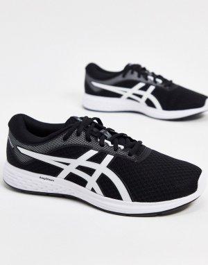 Черно-белые кроссовки Running Patriot 11-Темно-синий Asics