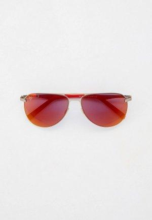 Очки солнцезащитные Plein Sport. Цвет: серебряный