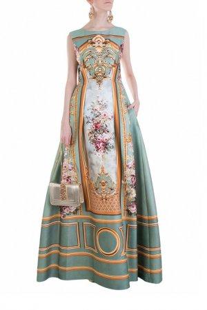 Платье Alberta Ferretti. Цвет: голубой