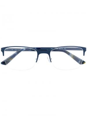 Очки в оправе прямоугольной формы Calvin Klein. Цвет: синий
