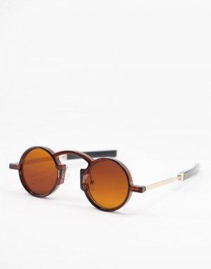 Коричневые круглые солнцезащитные очки в стиле унисекс с коричневыми стеклами Euph-Коричневый цвет Spitfire