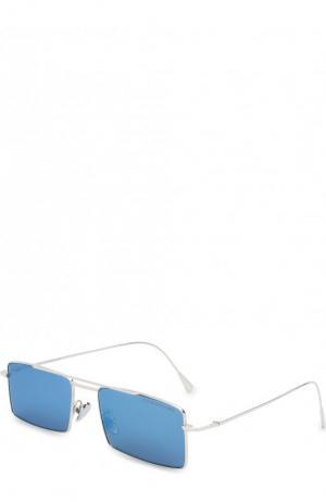 Солнцезащитные очки Cutler and Gross. Цвет: синий
