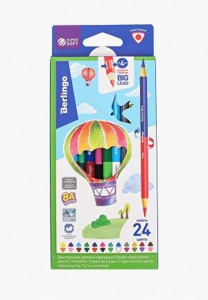 Набор для творчества Berlingo 12 цветных двусторонних SuperSoft. Duo, 24 цвета. Цвет: разноцветный