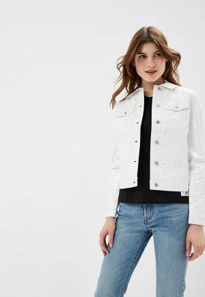 Куртка кожаная Calvin Klein Jeans. Цвет: белый