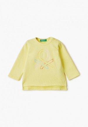 Свитшот United Colors of Benetton. Цвет: желтый