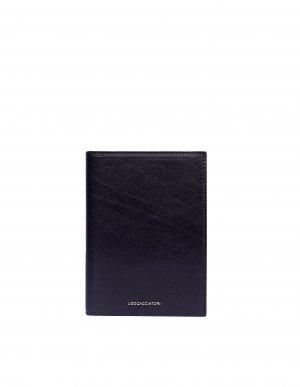 Черный кошелек Passport из гладкой кожи Ugo Cacciatori