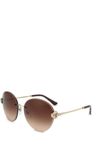 Солнцезащитные очки BVLGARI. Цвет: коричневый