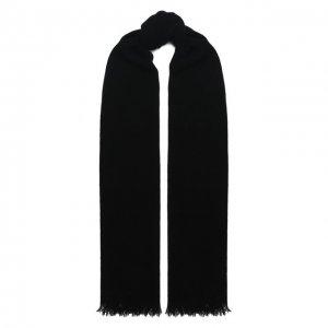 Кашемировый шарф Kiton. Цвет: чёрный