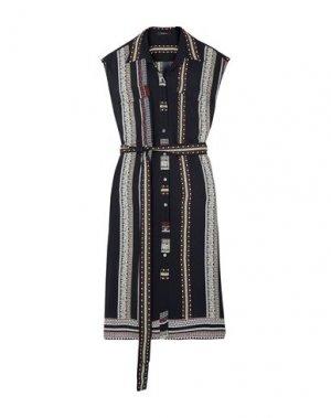 Платье до колена DEREK LAM. Цвет: темно-синий