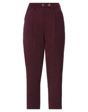 Повседневные брюки H2O ITALIA. Цвет: баклажанный