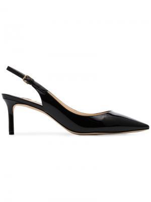 Лакированные туфли-лодочки Erin 60 с ремешком на пятке Jimmy Choo. Цвет: черный