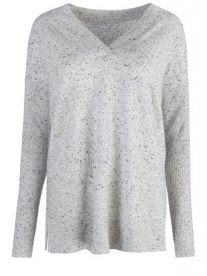 Пуловер свободного силуэта HUGO BOSS. Цвет: серый