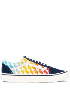 Кроссовки с принтом Vans. Цвет: синий