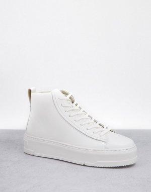 Белые кожаные высокие кеды Judy-Белый Vagabond