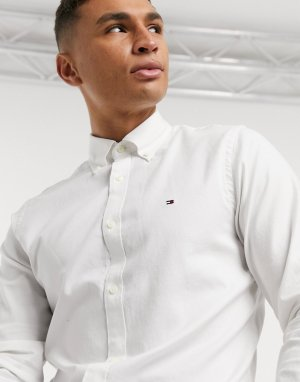Рубашка узкого кроя с длинными рукавами -Белый Tommy Hilfiger