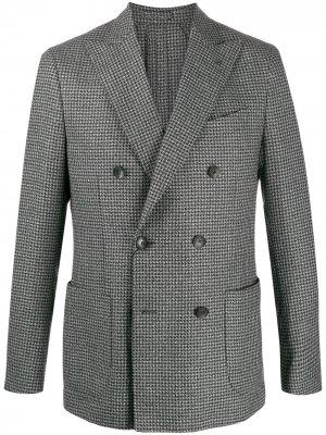 Delloglio пиджак в ломаную клетку Dell'oglio. Цвет: черный