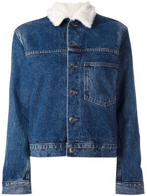 Джинсовая куртка с нагрудным карманом Helmut Lang. Цвет: синий
