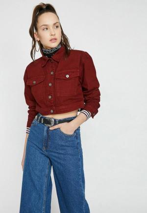 Куртка джинсовая Koton. Цвет: бордовый