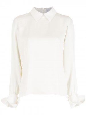 Блузка с воротником Gloria Coelho. Цвет: нейтральные цвета