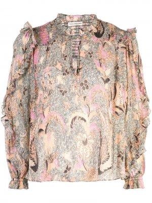 Блузка с цветочным принтом Ulla Johnson. Цвет: нейтральные цвета