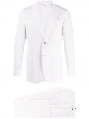 Delloglio костюм с однобортным пиджаком Dell'oglio. Цвет: белый