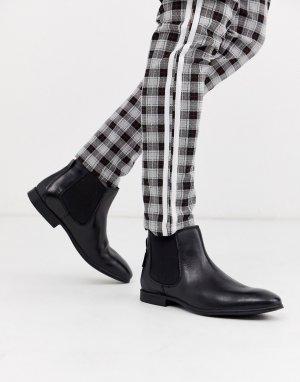 Черные кожаные ботинки челси -Черный Ben Sherman