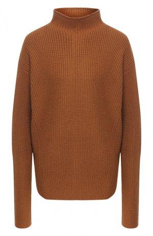 Кашемировый пуловер BOSS. Цвет: коричневый