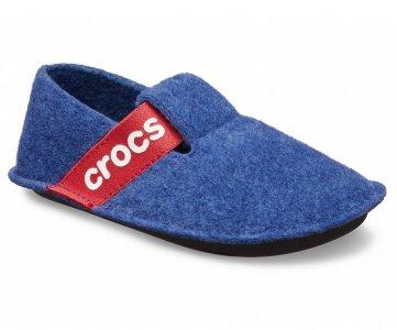 Тапочки детские CROCS Kids Classic Slipper Cerulean Blue (Синий) арт. 205349. Цвет: синий