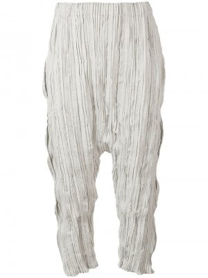 Укороченные брюки-шаровары Issey Miyake Men. Цвет: серый