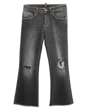 Джинсовые брюки-капри CARLA G.. Цвет: серый