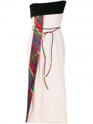 Платье без бретелей с завязками на талии Gianfranco Ferré Pre-Owned. Цвет: нейтральные цвета