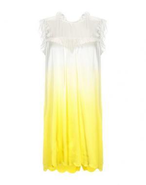 Короткое платье CYCLE. Цвет: желтый
