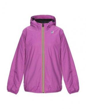 Куртка K-WAY. Цвет: розовато-лиловый