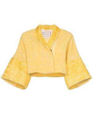 Укороченная куртка Lama Piana By Walid. Цвет: желтый