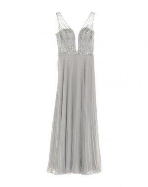 Длинное платье MIKAEL. Цвет: светло-серый