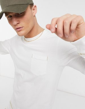 Белый свитер с круглым вырезом Jack & Jones