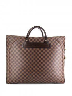 Дорожная сумка Damier Ebène Nolita 2004-го года Louis Vuitton. Цвет: коричневый