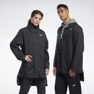 Пальто Outerwear Reebok. Цвет: black