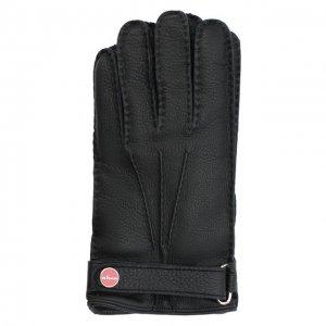 Кожаные перчатки Kiton. Цвет: чёрный