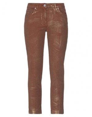 Повседневные брюки HENRY COTTON'S. Цвет: коричневый