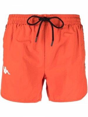 Плавки-шорты Coney Kappa. Цвет: оранжевый