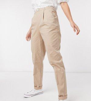 Светло-бежевые брюки-чиносы ASOS DESIGN Tall hourglass-Светло-бежевый