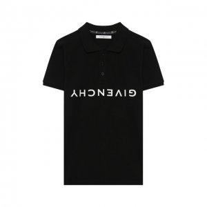 Хлопковое поло Givenchy. Цвет: чёрный