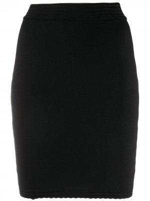 Эластичная юбка мини Alaïa Pre-Owned. Цвет: черный