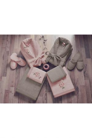 Банный комплект Cotton box. Цвет: beige, pink
